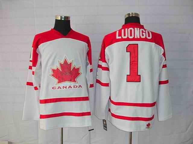 Canada 1 Luongo White Jerseys