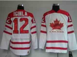 Canada 12 IGINLA White Jerseys
