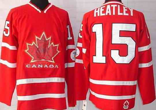 Canada 15 Heatley Red Jerseys