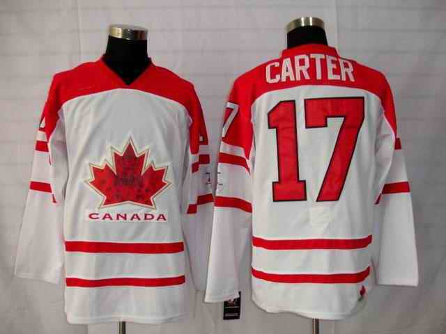 Canada 17 Carter White Jerseys