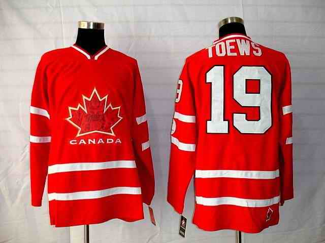 Canada 19 Toews Red Jerseys