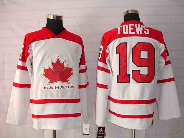 Canada 19 Toews White Jerseys