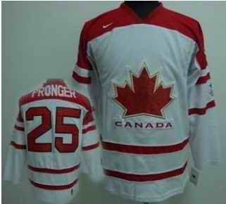 Canada 25 PRONGER White Jerseys