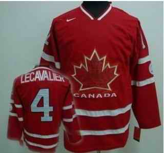 Canada 4 LECAVALIER Red Jerseys