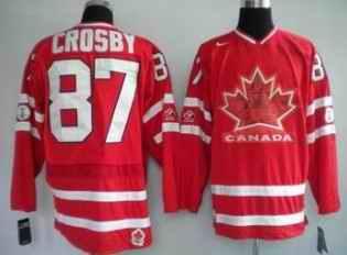 Canada 87 CROSBY Red Jerseys