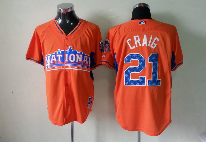Cardinals 21 Craig orange 2013 All Star Jerseys
