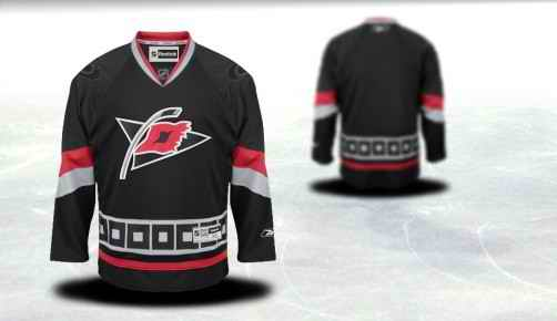 Carolina Hurricanes Youth Customized Black Third Jersey