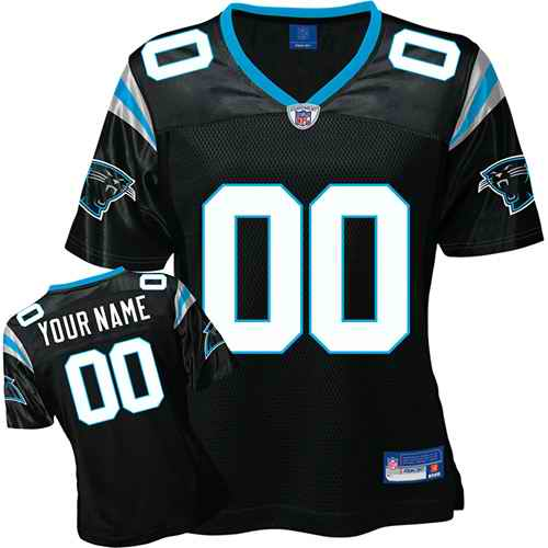 Carolina Panthers Women Customized Black Jersey