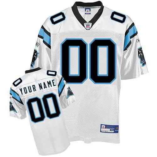 Carolina Panthers Youth Customized White Jersey