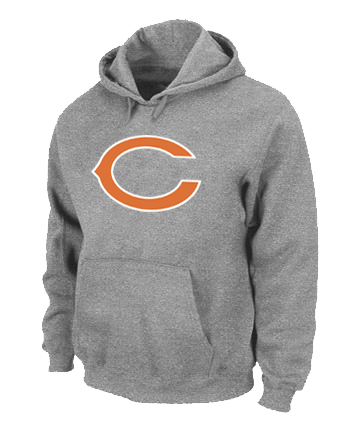 Chicago Bears Logo Pullover Hoodie Grey