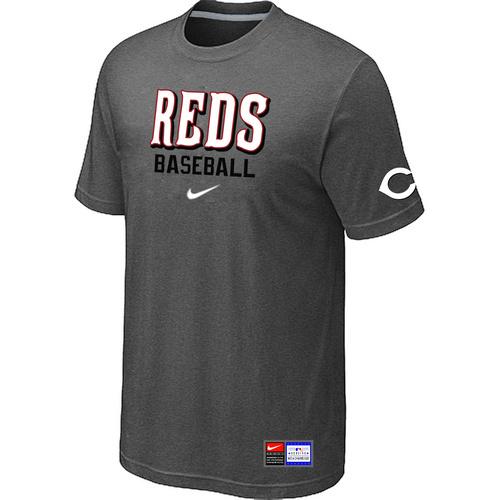 Cincinnati Reds D.Grey Nike Short Sleeve Practice T-Shirt