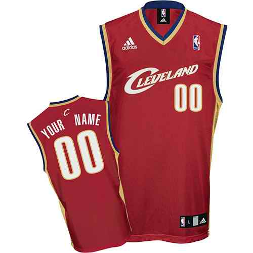 Cleveland Cavaliers Youth Custom red Road Jersey