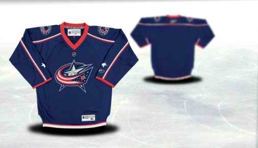 Columbus Blue Jackets Youth Customized Blue Jersey