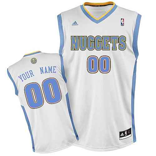 Denver Nuggets Youth Custom white Jersey
