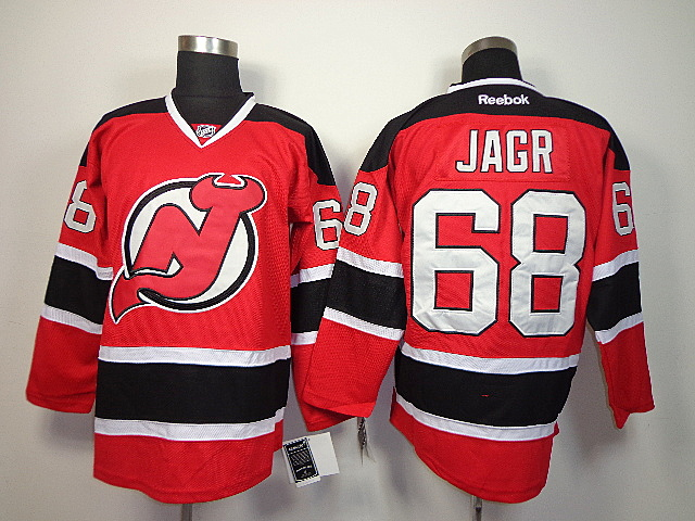 Devils 68 Jagr Red Jerseys