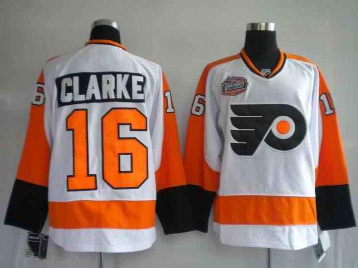 Flyers 16 Bobby Clarke 2010 Winter Classic Premier Jerseys