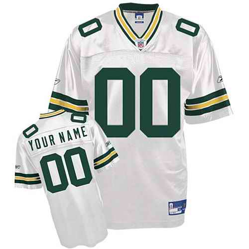 Green Bay Packers Youth Customized White Jersey