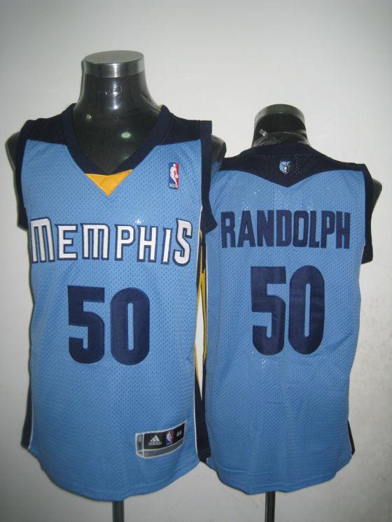 Grizzlies 50 Zach Randolph Light Blue Swingman Jersey