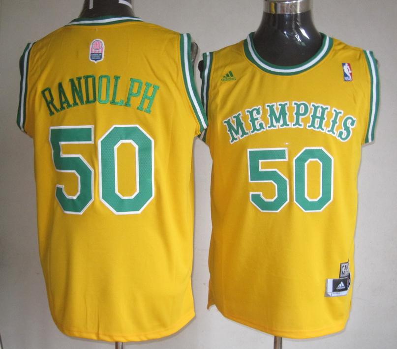 Grizzlies 50 Zach Randolph Yellow Swingman Jersey