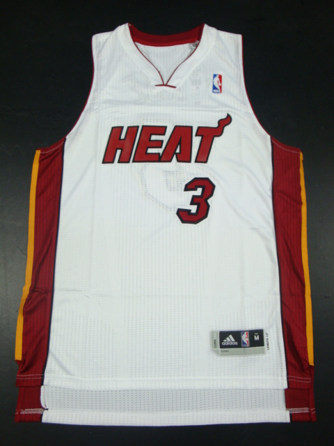 Heat 3 Wade White AAA Jerseys