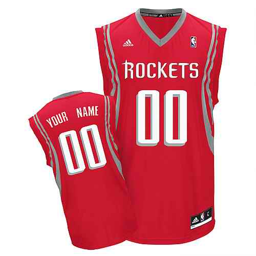 Houston Rockets Youth Custom red white number Jersey