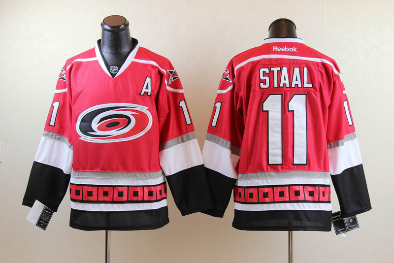 Hurricanes 11 Staal Red Jerseys