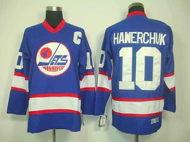 Islanders 10 Hawerchuk blue Jerseys