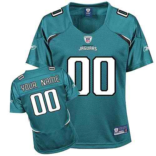 Jacksonville Jaguars Women Customized Green Jersey