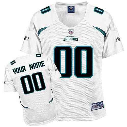 Jacksonville Jaguars Women Customized White Jersey