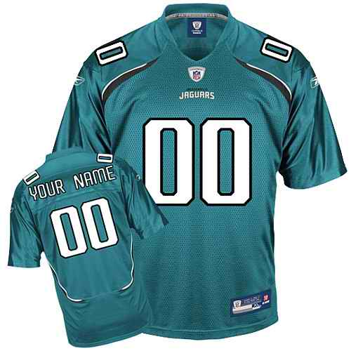 Jacksonville Jaguars Youth Customized green Jersey