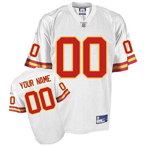 Kansas City Chiefs Youth Customized White Jersey