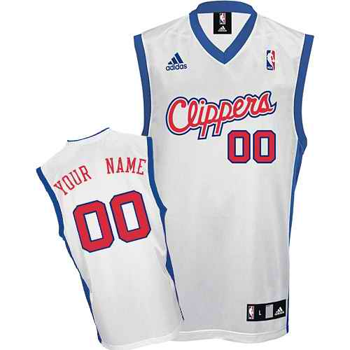 Los Angeles Clippers Youth Custom white red number jersey