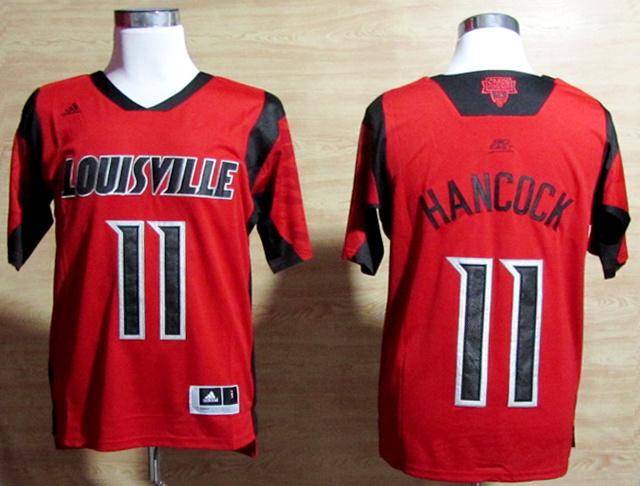 Louisville Cardinals 11 Hancock Red Big East Jerseys