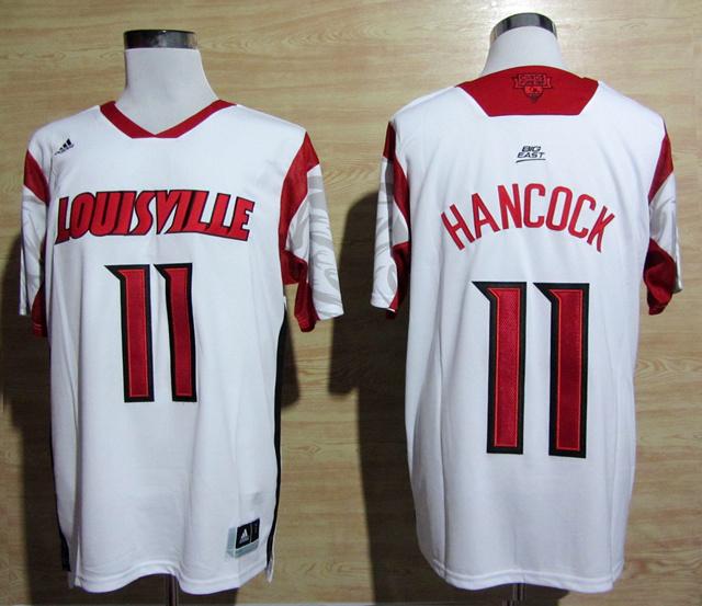 Louisville Cardinals 11 Hancock White Big East Jerseys