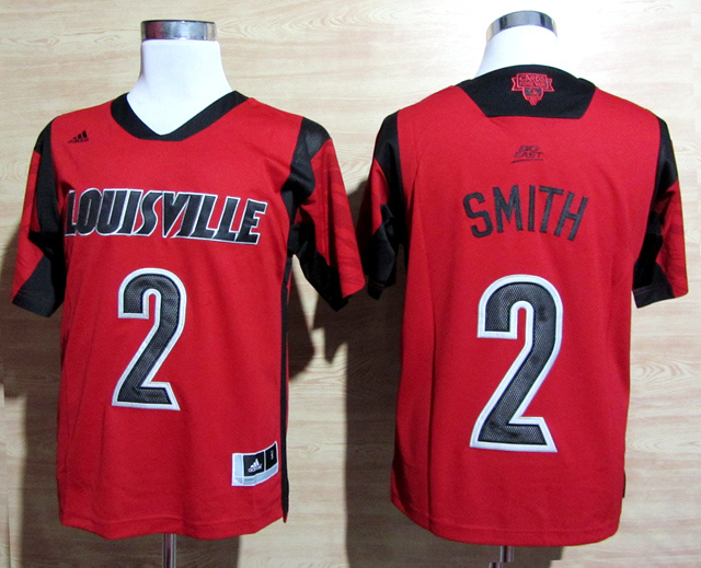 Louisville Cardinals 2 Smith Red Big East Jerseys