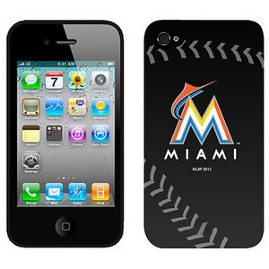 MLB Florida marlins Black Colors Iphone 4-4s Case