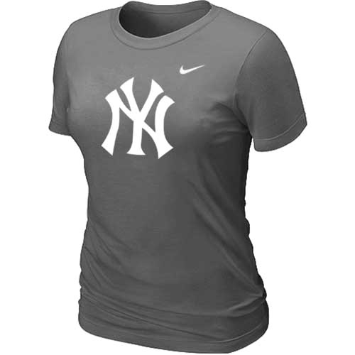 MLB New York Yankees Heathered D.Grey Nike Blended T-Shirt