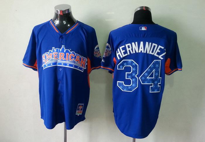 Mariners 34 Hernandez blue 2013 All Star Jerseys