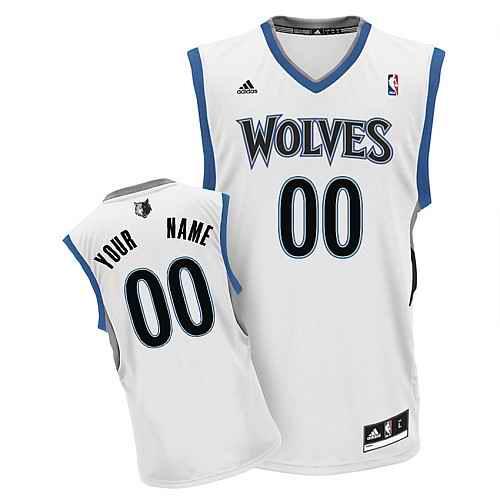 Minnesota Timberwolves Youth Custom white V-neck Jersey