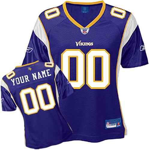 Minnesota Vikings Women Customized Purple Jersey