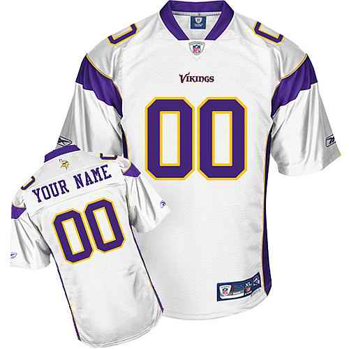 Minnesota Vikings Youth Customized white Jersey