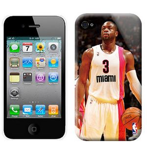 NBA Miami Heat 3 Wade Iphone 4-4s Case