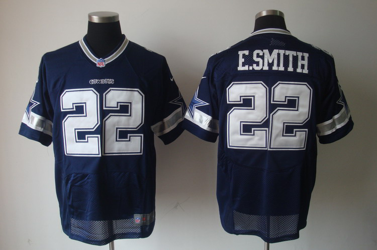 Nike Cowboys 22 Emmitt Smith Blue Elite Jersey