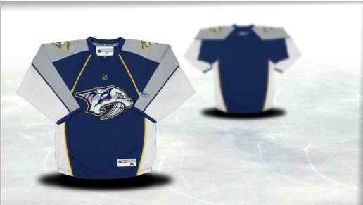 Nashville Predators Youth Customized Blue Jersey