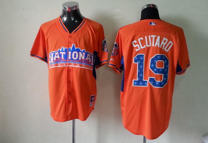 National League 19 Scutaro orange 2013 All Star Jerseys
