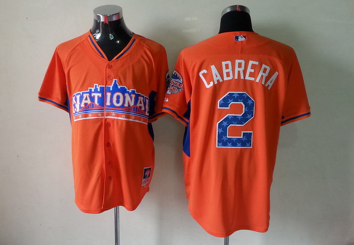 National League 2 Cabrera orange 2013 All Star Jerseys