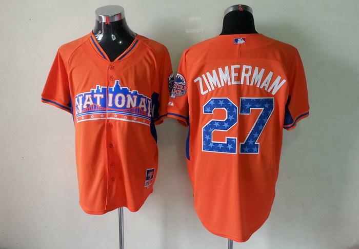 National League 27 Zimmerman orange 2013 All Star Jerseys
