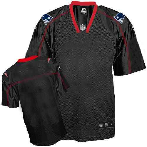 New England Patriots Men Customized black field shadow Jersey
