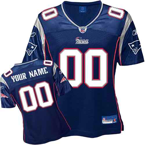 New England Patriots Women Customized Blue Jersey