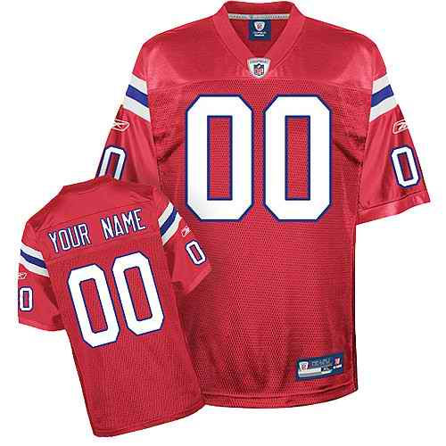 New England Patriots Youth Customized Red Jersey